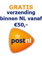 Gratis verzending binnen NL vanaf €50,-